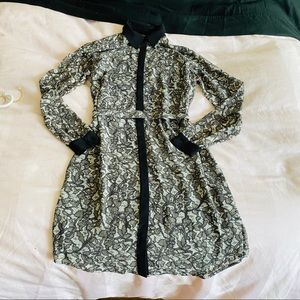 Michael Kors button down lace pattern dress
